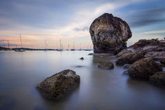 Solitary Rock Royalty Free Stock Images