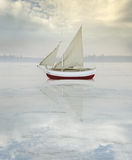 Solitary vessel Royalty Free Stock Photography