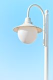 Solitary white street light Stock Photography