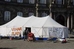 Solitdarty med flyktingar Royaltyfria Bilder
