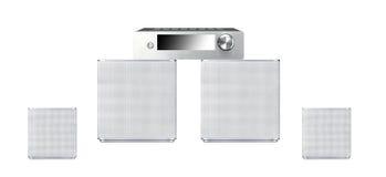Solitt högtalaresystem Royaltyfria Bilder