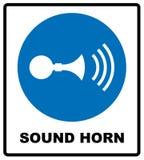 Solitt horn- tecken också vektor för coreldrawillustration stock illustrationer
