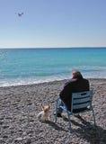 Solitude bleue Photos libres de droits