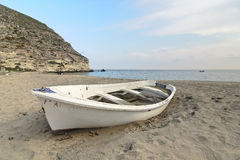 Solitude boat in the sand of a beach Stock Photography