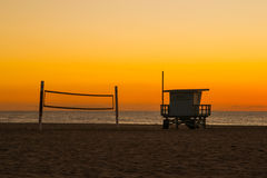Solitude de plage Image libre de droits