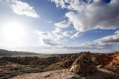 Solitude in the desert Royalty Free Stock Photo