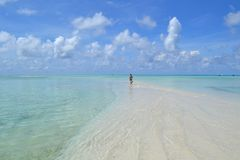 Solitude en Maldives Photo stock
