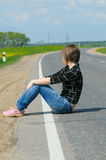 Solitude girl Stock Photos