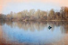 Solitude on the Lake Royalty Free Stock Photos