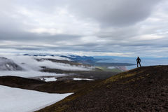 Solitude landscape in Iceland mountains. Royalty Free Stock Images
