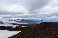 Solitude landscape in Iceland mountains. Stock Photos
