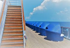 Solitude and Relaxation in empty cruise ship royalty free stock photo