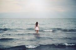Solitude in sea Stock Photos