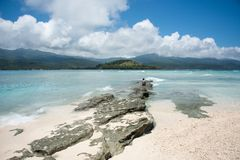 Solitude sur l'île de mystère Photographie stock libre de droits