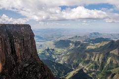 Solitude on the top of the world. In South Africa Drakensberg mountains Stock Images