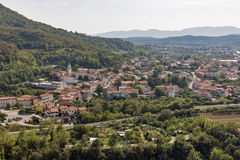 Solkan townscape in Slovenia. Stock Images