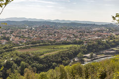 Solkan townscape in Slovenia. Royalty Free Stock Image