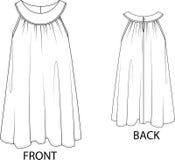 Solklänning som isoleras på en vit bakgrund stock illustrationer
