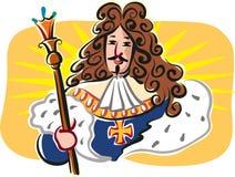Solkonung, Louis XIV, konung av Frankrike stock illustrationer