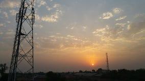 Sollöneförhöjning och torn Royaltyfria Foton