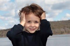 Sollecitato e sorridere Fotografia Stock