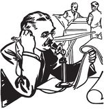 Solleciti il reporter On Phone illustrazione di stock