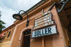 Soller-Bahnstation auf Mallorca-Insel lizenzfreies stockbild