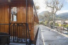 Soller,Balearic Islands,Spain. Station, touristic old train Soller-Palma,Soller, Mallorca island, Balearic Islands Royalty Free Stock Image