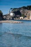 Soller. Es Faro behind Port de Soller on Spain island Mallorca stock image