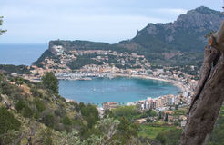 Soller landscape scenery. By the bay. Mallorca, Balearic islands, Spain Royalty Free Stock Photo