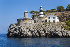 Soller Lighthouse. Port of Soller Lighthouse in Balearic Island royalty free stock photo