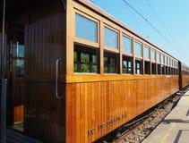 Soller, Majorque, Espagne Le train fonctionnant entre Soller et Palma de Mallorca images libres de droits
