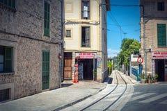 Famous touristic railroad in Soller, Mallorca island stock photos
