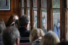 Soller train full of passengers Royalty Free Stock Image