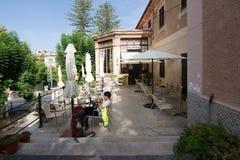 Soller train station cafe Mallorca Stock Photography