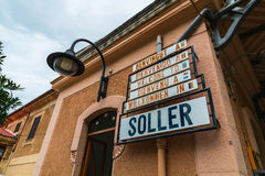 Soller Train Station on Mallorca Island royalty free stock image