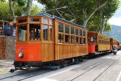 Soller tram station on Majorca Royalty Free Stock Image