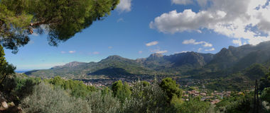 Soller Valley. Panoramic view of Soller Valley in Majorca (Spain Stock Photography