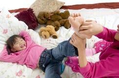Solleticare i piedi Fotografia Stock Libera da Diritti