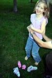 Solletichi i miei calzini fuori Fotografia Stock Libera da Diritti