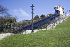 Sollevamento della scogliera, Southend-su-Mare, Essex, Inghilterra Immagini Stock Libere da Diritti