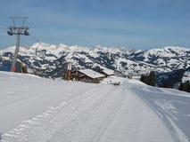 Sollevamento di sci di Wispile, Gstaad Fotografia Stock