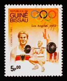 Sollevamento pesi, serie dei giochi olimpici, circa 1983 Immagini Stock Libere da Diritti