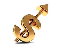 Sollevare dollaro Fotografia Stock Libera da Diritti