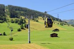 Sollevi fino alle alpi europee al villaggio Gerlos in Tirolo Austria Z Fotografia Stock Libera da Diritti