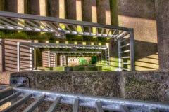 Sollevi la scala all'aperto della serratura Immagine Stock Libera da Diritti