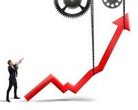 Sollevi le statistiche illustrazione di stock