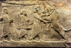 Sollievo antico di Assyrian Fotografia Stock Libera da Diritti