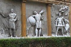 Sollievo antico spagnolo dei soldati Immagini Stock Libere da Diritti