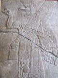 Sollievo Assyrian con la bestia mitologica immagini stock